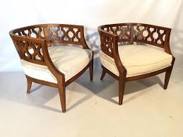 Hollywood Regency Carved Barrel Chairs After Dorothy Draper 51 Wicker And Rattan Chairs To Add Warmth Comfort Any 1960s Vintage Drexel Caned Barrel Back A Pair For Soldpair Of High Barrel Back Caned Reading Chairs Antique Teak Posts Facebook Tortuga Low Chair Of Mid Century Cane Club By Mcguire Ding Room Toboggan Arm Mcgm130c Set Six Danish Leather Kofodlarsen Style Midcentury Side Claude