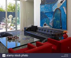 large living room glass doors high resolution stock