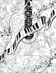 Adult Coloring Page Printable Guitar FREE By JuleezGallery