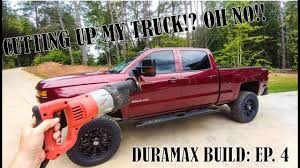 100 See Tires On My Truck CUTTING A 60K TRUCK TO FIT BIGGER TIRES DURAMAX BUILD EP 4