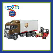 100 Ups Truck Toy Bruder 03581 Scania R Series UPS Logistics With Forklift