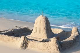 Sand Castle Near Water