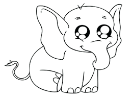 Free Printable Elephant Baby Shower Decorations Small Elephants Coloring Pages For Adults Cute Page Full