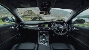 Alfa Romeo Giulia saloon interior dashboard & satnav