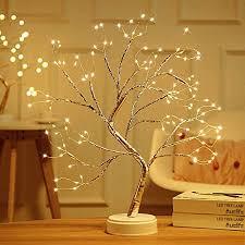 fustms 108 led blume baum licht desktop diy bonsai baum