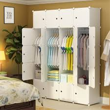 Costway DIY 168 Cube Portable Clothes Wardrobe Cabinet Closet