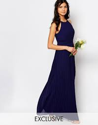 tfnc wedding high neck pleated maxi dress bridesmaid pinterest