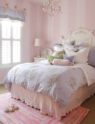 BedroomNew Pretty Vintage Bedding Sets In Calming Pink Bedrooms Girls Stripped Wall Paint Design