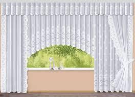 blumenfenster store mit floraldessin