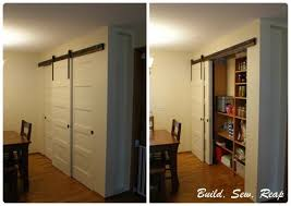 Pantry with DIY Barn Door Hardware by Julie Buildsewreap