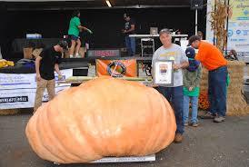 Worlds Heaviest Pumpkin Pie by Annual World Pumpkin Weigh Off To Highlight Fall Festival At Great