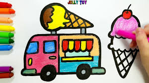 100 Toy Ice Cream Truck Coloring Pages Coloring Photo Ideas And