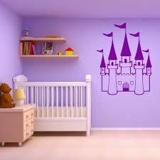 autocollant chambre fille princesse château filles chambre conte de fées thème vinyle mur