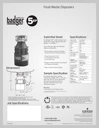badger 5xp insinkerator pdf catalogues documentation brochures