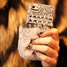 Fluffy iPhone 5 Case gray by Fashion9shop on Etsy
