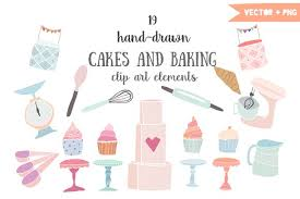 Cakes and baking clip art Illustrations