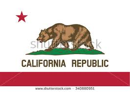 Flag Of California State The United States Vector Illustration
