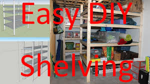 how to build storage shelving easy diy plans included youtube