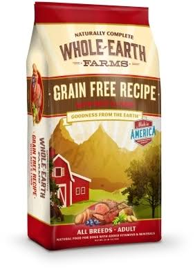Merrick Whole Earth Farms Grain-Free Dog Food - Beef & Lamb, 25lb