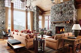 Living Room With Fireplace In The Middle by Fireplace Ideas And Fireplace Designs Photos Architectural Digest