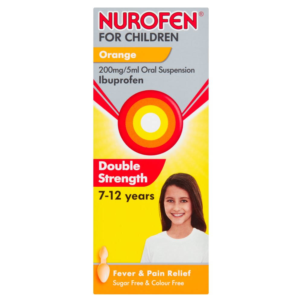 Nurofen for Children Oral Suspension - Orange, Double Strength, 100ml