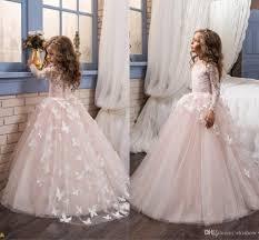 2017 cheap little white long sleeves lace flower u0027 dresses