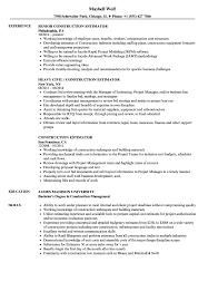 Download Construction Estimator Resume Sample As Image File