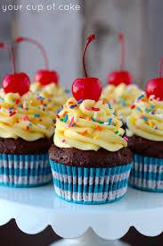 Chocolate Banana Cake Batter Cupcake
