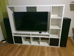 ikea lappland tv wand wohnwand weiß zustand
