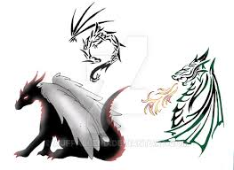 Simple Dragon Tattoo Page By Auffallend