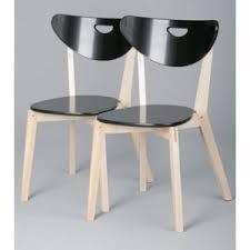 lot de 2 chaises pep noir ou blanc pas cher
