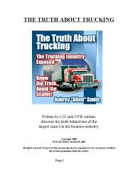 100 Truth About Trucking EBook Truck Driver Workweek And Weekend