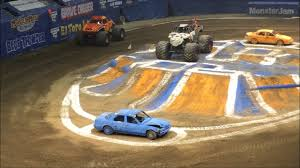 1ST MONSTER JAM SHOW NASSAU COLISEUM APRIL 23 2017 - YouTube