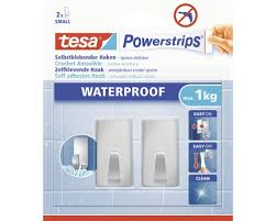 tesa powerstrips waterproof haken small eckig edelstahl