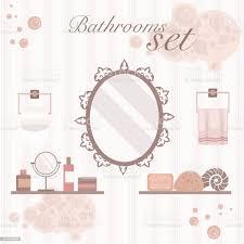 set vintagedesign badezimmer stock vektor und mehr bilder badewanne