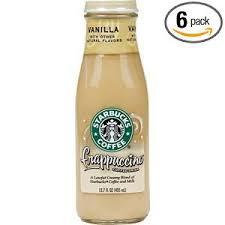 Starbucks Coffee Frappuccino Drink Vanilla Flavor 137 Fl