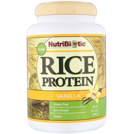 Nutribiotic Vegan Rice Protein, Vanilla - 21 oz jar