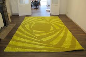 100 Roche Bobois Rugs Soleil Rug In Yellow Wool 1980s Design Market