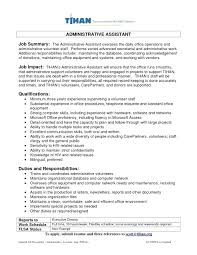Cover Letter 30 New Administrative Assistant Resume Summary