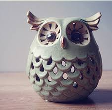 ceramic owl candle holders home decoration European candle stick