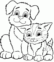 Download Coloring Pages Kitten Cute Free Printable
