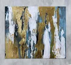 Gold Leaf Wall Art Modern Abstract Painting On Canvas