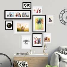 10er bilderrahmen set schwarz weiss 13x18 bis 30x40 cm inkl zubehör bildergalerie bilderwand wandgalerie photolini bilderrahmen fotowände