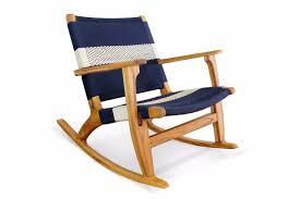 100 Navy Blue Rocking Chair Masaya White Stripe Manila Masaya Co