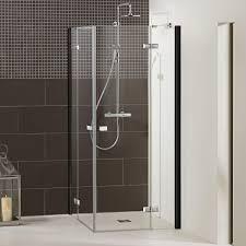 duschkabine duschabtrennung dusbad vital 1 black edition dusche eckdusche vierteilig drehtür mit festteil esg 6mm made in germany glasduschen