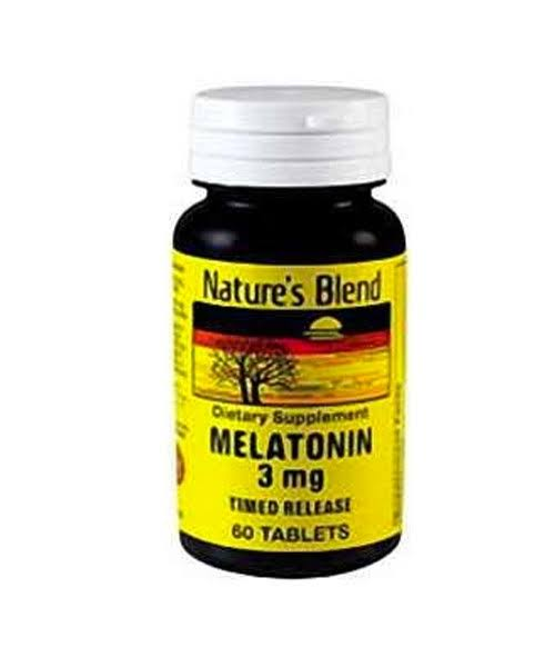 Nature's Blend Melatonin Timed Release Dietary Supplement - 60 Count