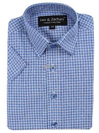 leo u0026 zachary boys blue short sleeve dress shirt 5573s button