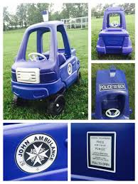 100 Truck Cozy Coupe Coupe Redo From Boring Black Truck To A TARDIS The Light On