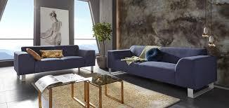 blue metall 2 3 sitzer sofas kaufen möbel