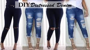 diy distressed jeans boyfriend jeans u0026 ripped knee jeans youtube